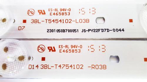 Haier 50EU5550 LED Light Strips set of 12 3BL-T5454102-L03B & 3BL-T5454102-R03B