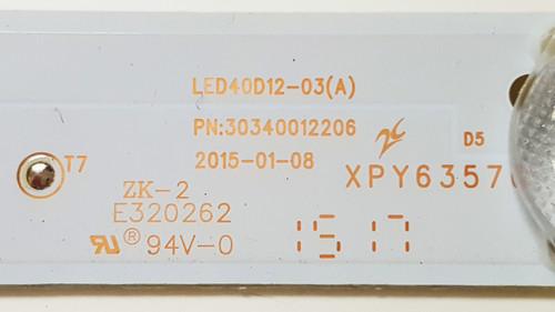 Haier 40E3500 LED Light Strips set of 4 LED40D12-03(A) / 30340012206