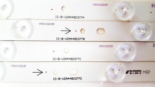 JVC EM48FTR LED Light Strips Complete set of 12 IC-B-VZAA48D377 A/B/C/D