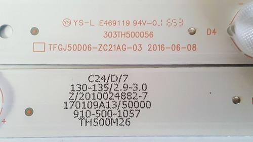 Westinghouse WD50UC4300 LED Light Strips set of 10 303TH500056 / TFGJ50D06-ZC21AG-03