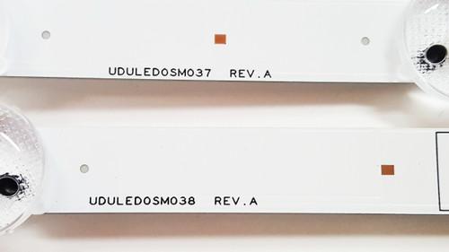 Magnavox 55ME314V/F7 LED Light Strips Complete set of 8 UDULED0SM037 & UDULED0SM038