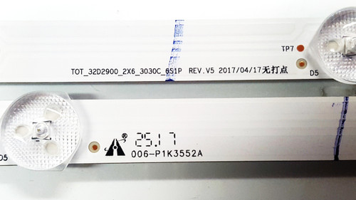 TCL 32S301 LED Light Strips Complete set of 2 TOT_32D2900_2X6_3030C_6S1P / 006-P1K3552A