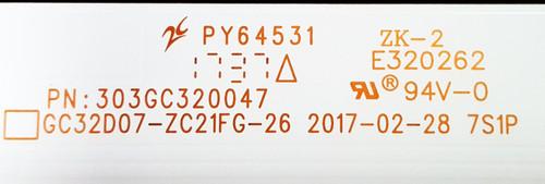 Samsung UN32J4000 LED Light Strips Complete set of 3 303GC320047 / GC32D07-ZC21FG-26