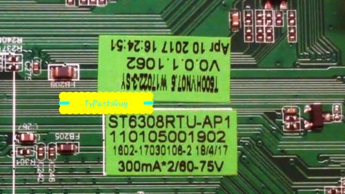 Westinghouse WD50FB2530 Main board ST6308RTU-AP1 / W17022-3-SY