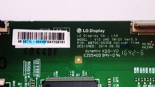 Toshiba 49L621U Tcon board 6870C-0535B / 6871L-4044B