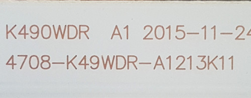 Toshiba 49L621U LED Light Strips Complete set of 12 4708-K49WDR-A1213K11