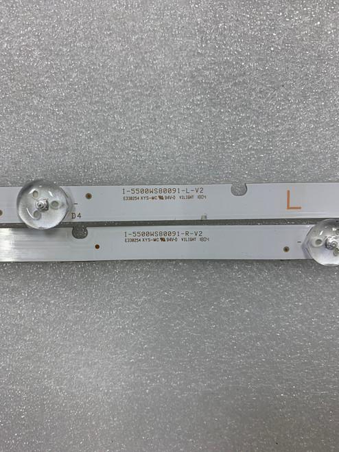 Vizio D55-F2 LED Light Strips Complete set of 5 I-5500WS80091