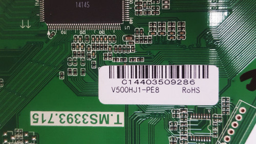 Sceptre X505BV-FMQR Main board T.MS3393.715 / V500HJ1-PE8