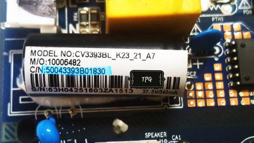 Quasar SQ240P Main board / Power Supply board CV3393BL-K23 / 50043393B01830 / 63H0425