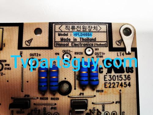 Insignia NS-46E560A11 Power Supply board / Backlight Inverter HPLD469A / 043-530-8000