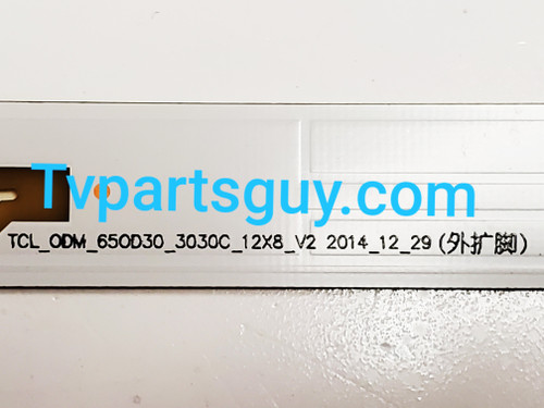 Sanyo FW65D25T LED Light Strips Complete set of 12 TCL_ODM_650D30_3030C_12X8 / 006-P2K2165B