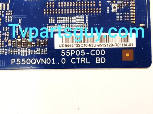 Insignia NS-50DR710NA17 Tcon board P550QVN01.0 / 55P05-C00 / 5555T22C10
