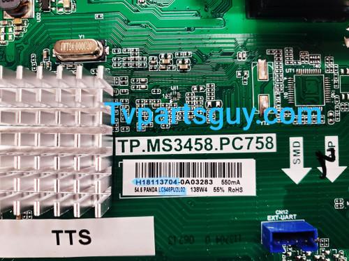 Sceptre W55 Main board / Power Supply board & Tcon board set TP.MS3458.PC758 / 260104016320 / H18113704 & RUNTK0018ZC