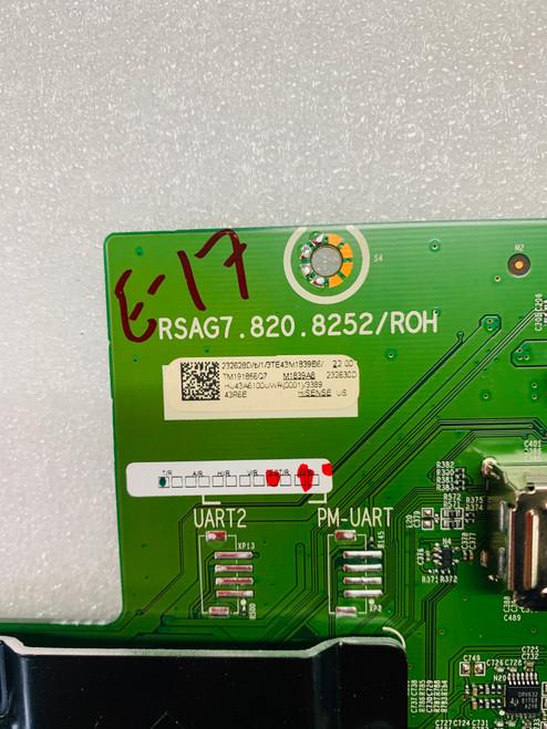 Hisense 43R6E Main board RSAG7.820.8252/R0H / 232628 / 232630
