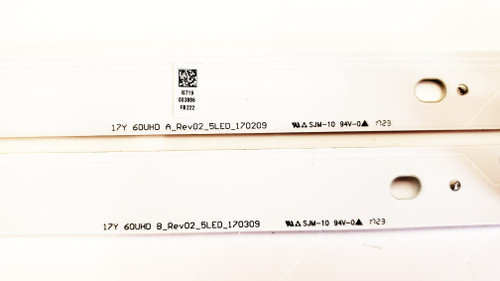 Sony KD-60X690E LED Light Strips Complete set of 10 17Y 60UHD A REV02 5LED 170209