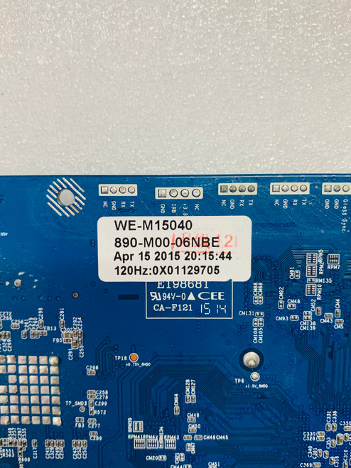 Westinghouse WE42UX3200 Main board CV3393CH-V-11 / 890-M00-06NBE