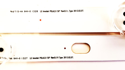 """LG 50LN5100 LED Light Strips Complete set of 12 LG Innotek POLA2.0 50"""" Rev0.0"""