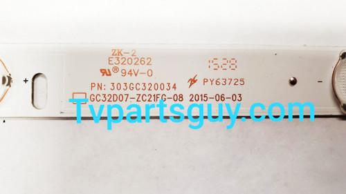 Element ELEFW328 LED Light Strips Complete set of 3 303GC320034 / GC32D07-ZC21FG-08