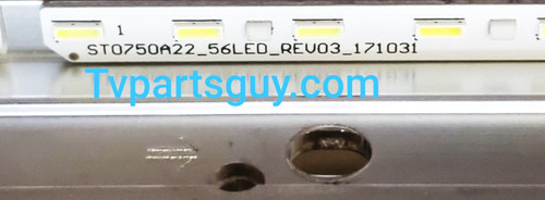 Sony XBR-75X850F Edge Lit LED Light Strips in metal casing ST0750A22 / 171031
