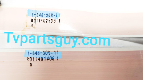 Sony XBR-65X900B Main board to Tcon board ribbon cables 1-848-308-11 & 1-848-309-11