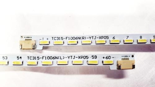 JVC LT-32PM74P LED Light Strips Complete set of 2 TC315-F1006N(R)-YTJ-XP05 & TC315-F1006N(L)-YTJ-XP05