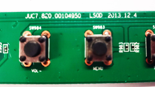 Hitachi LE40S508 Keypad control / push buttons JUC7.820.00104950