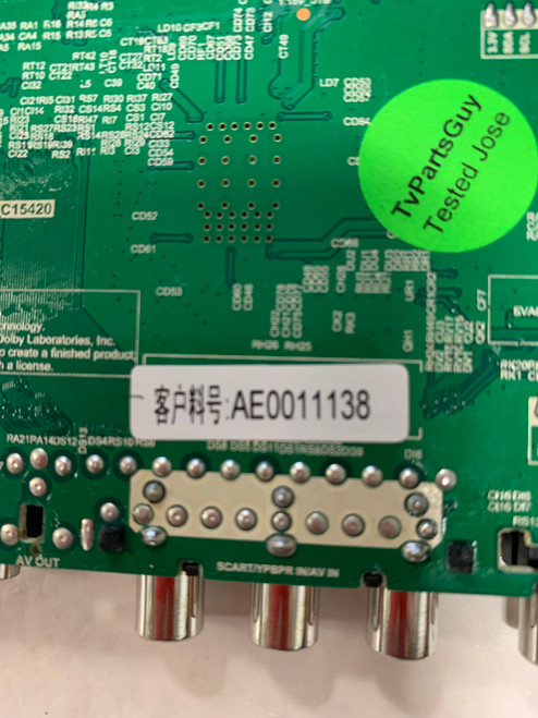 RCA RTU6050 Main board TP.MS3458.PC757 / AE0011138