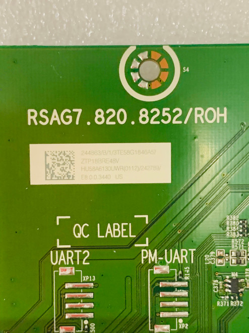 Sharp LC-58Q7330U Main board RSAG7.820.8252/ROH / 244863 / 242789