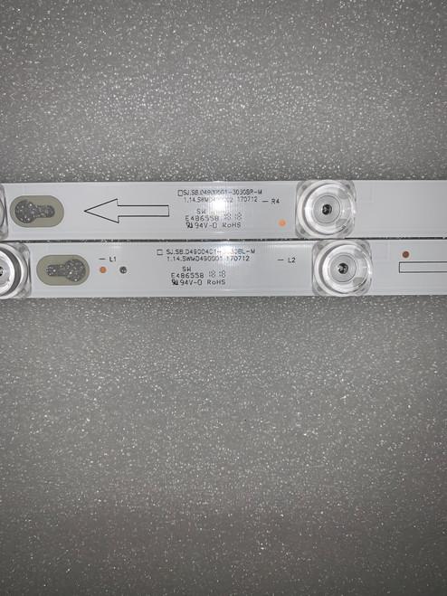 TCL 49S405 LED Light Strips Complete set of 8 SJ.SB.D4900401-3030B