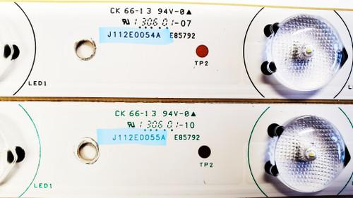 RCA LED55C55R120Q LED Light Strips Complete set of 12 J112E0054A & J112E0055A