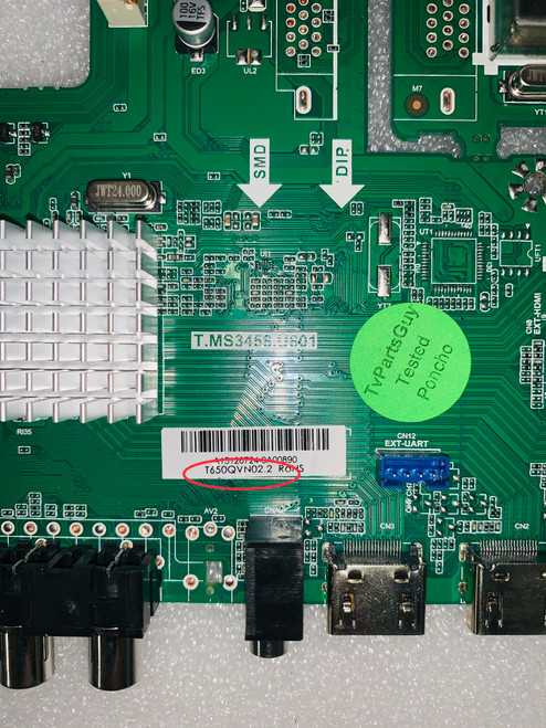must have panel #: T650QVN02.2