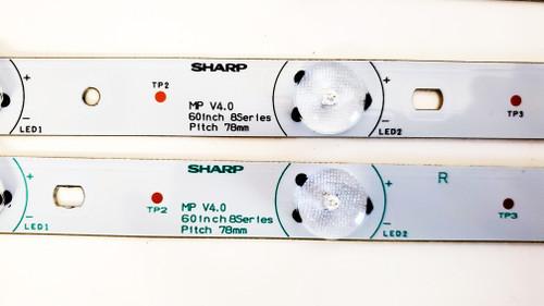RCA LED60B55R120Q LED Light Strips Complete set of 12 MP V4.0 60INCH 8SERIES