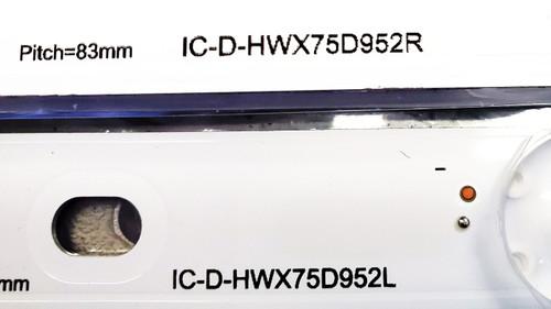 Sony KD-75X780F LED Light Strips Complete set of 18 IC-D-HWX75D952L &  IC-D-HWX75D952R