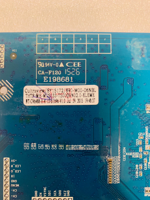 Element E4SFC551 Main board CV6488H-A-13 / SY15172 (SERIAL # beginning H5A0M ONLY)