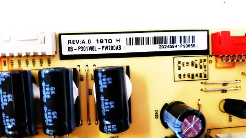 TCL 65R615 Power Supply board 40-P301HL-PWA1CG / 08-P301W0L-PW200AB