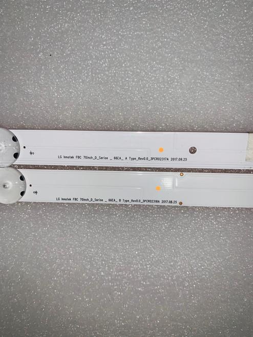 Vizio D70-F3 LED Light Strips Complete set of 12 70inch_D_Serise_66EA