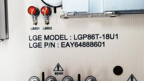 LG 86UK6570PUB.AUSWLJR Power Supply board / Main board w/ WiFi Module / Tcon board kit EAY64888601 & EBR64684601 & EAT63377302 & 6871L-5532A