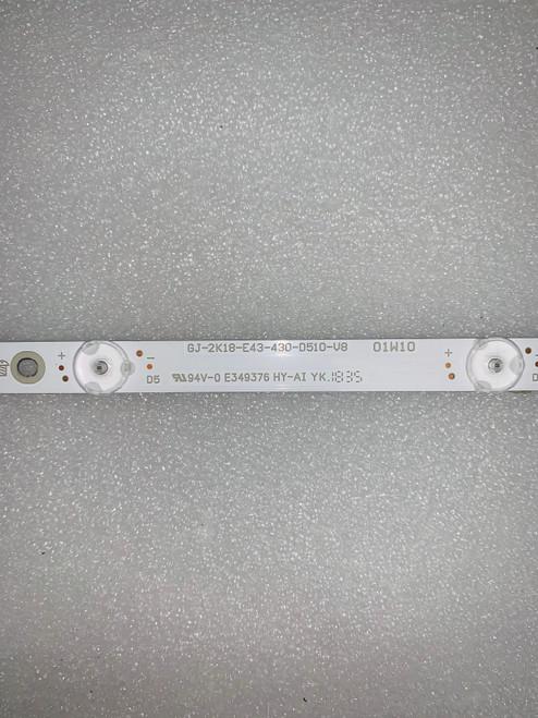 Vizio E43-F1 LED Light Strips set of 5 GJ-2K18-E43-430-D510-V8