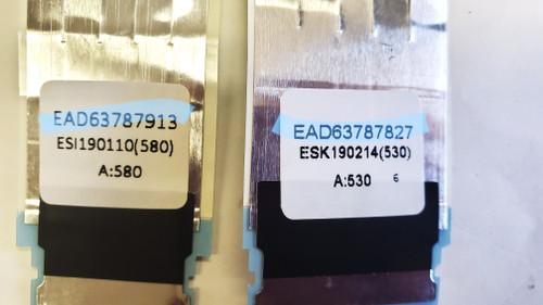LG 86UK6570PUB Main board to Tcon board LVDS ribbon cables EAD63787913 & EAD63787827