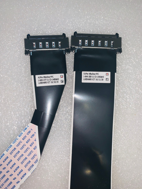 Sony XBR-55X850D LVDS Cables set of 2 1-849-277-11 & 1-849-280-11