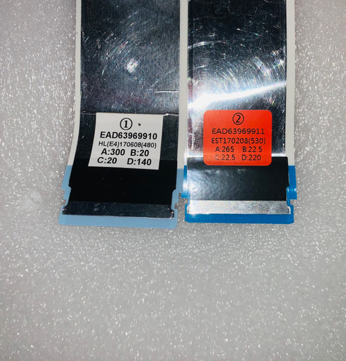 LG 43UJ6300-UA.BUSYLJM ribbon connector cables set of 2 EAD63969910 & EAD63969911