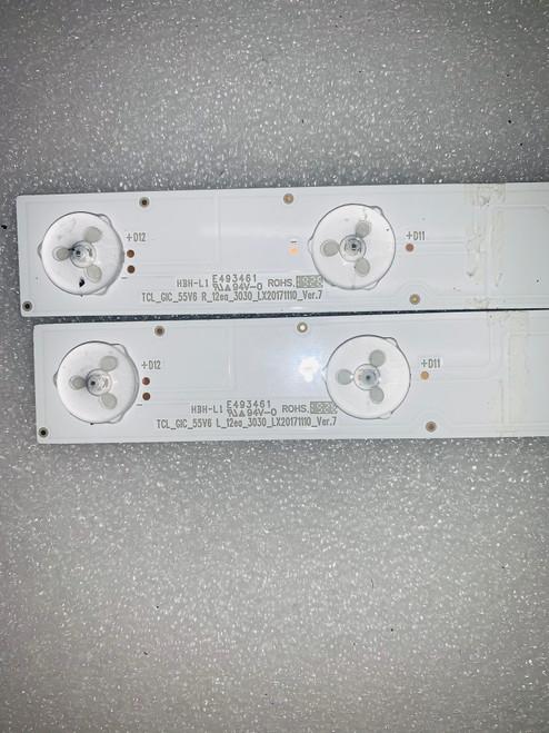 TCL 55R617 LED Light Strips set of 16 TCL GIC 55V6 R L 12EA 3030 LX20171110
