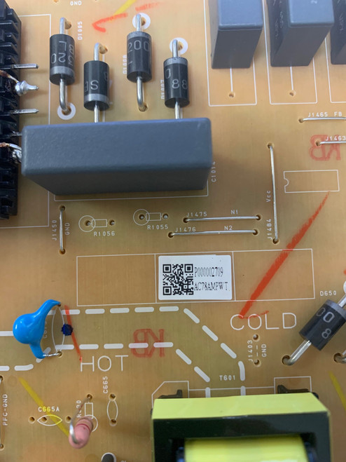 Philips 65PFL5604/F7A Power Supply board BACR8ZF0102 1 / AC78AMPWT