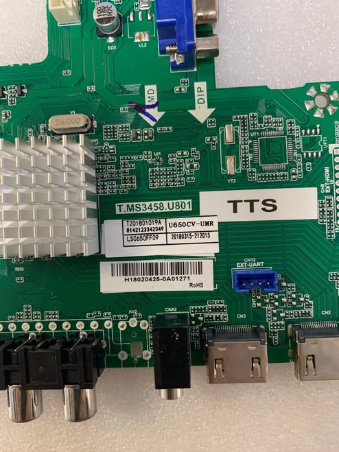 Sceptre W65 RDTV58DA Main board T.MS3458.U801 / 8142123342049 / 212015