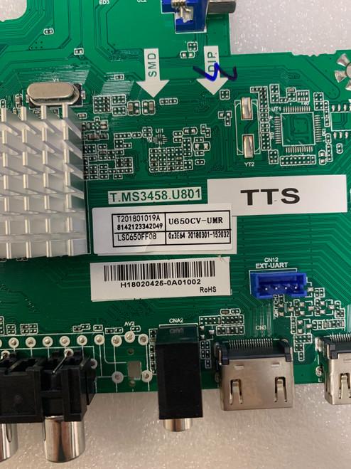 Sceptre W65 RATV58DA Main board T.MS3458.U801 / 8142123342049 / 152032
