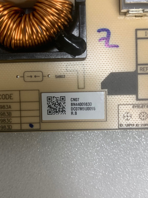 Samsung BN44-00983D Power Supply Board
