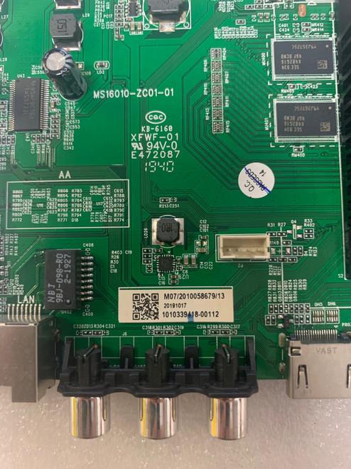 Hitachi 50RC6 Main board MS16010-ZC01-01 / 515C16010M07