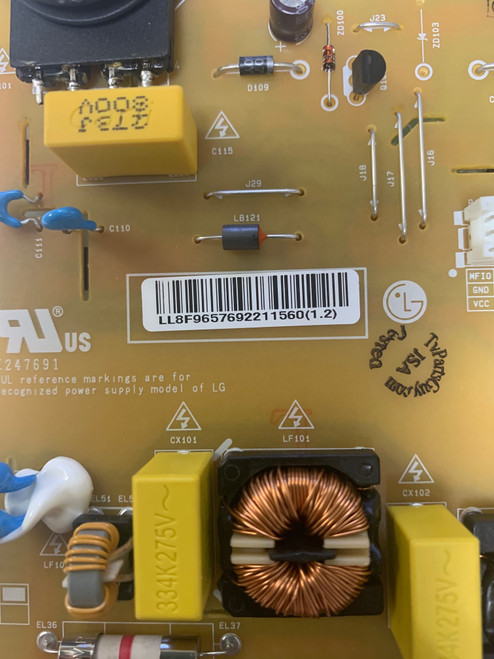 LG 50UN6950ZUF Power Supply board  EAX69057001 / EAY65769221
