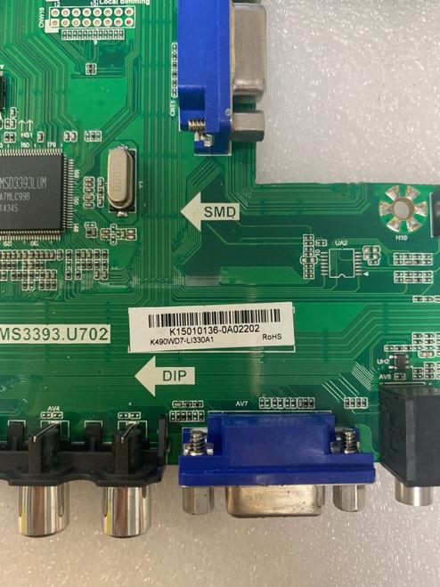 Sceptre U508CV-UMK Main Board (No Tuner) T.MS3393.U702 / K15010136