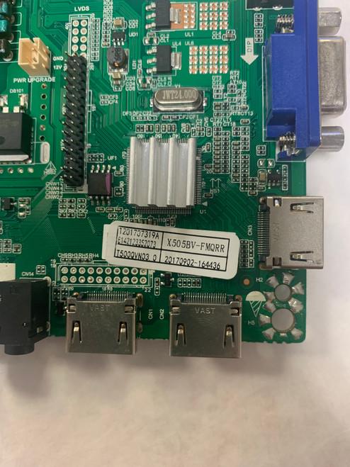 Sceptre X505BV-FSR Main Board T.MS3553.PC752 / T201707319A(No Tuner)